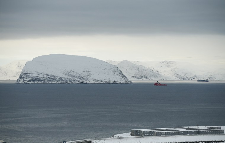 Image:  The view towards the refugee camp in Hammerfest, northern Norway