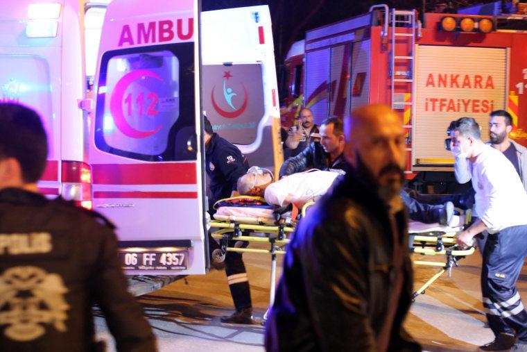 Image: Emergency Cars at Ankara Turkey Explosion