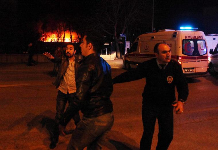 Image: People Reacting at Ankara Turkey Explosion 2