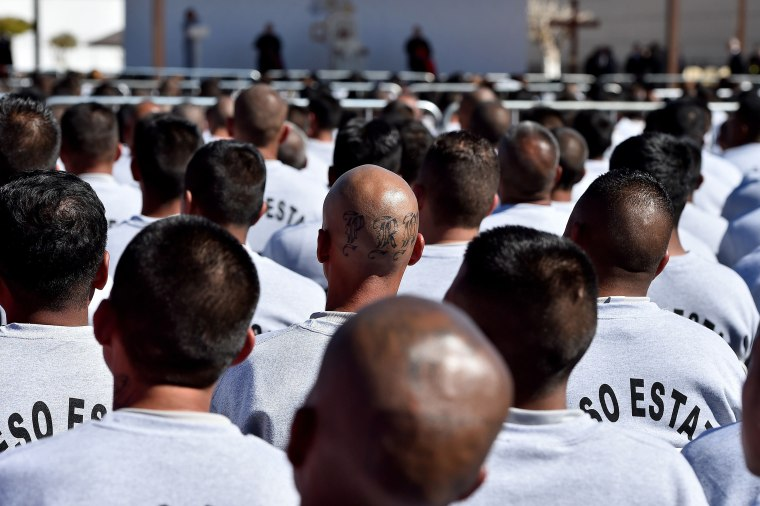 Image: Inmates gather for a visit by Pope Francis at the CeReSo n. 3 prison