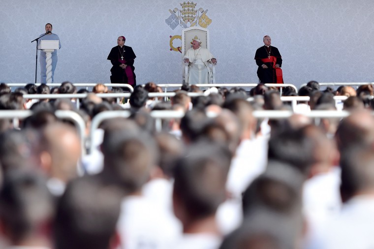 Image: Pope Francis visits the the CeReSo n. 3 penitentiary in Ciudad Juarez,