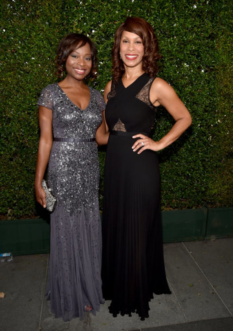 Channing Dungey, right, will become ABC's next entertainment president. She was with Nne Ebong, an ABC executive vice president, at the 2014 Emmy Awards.
