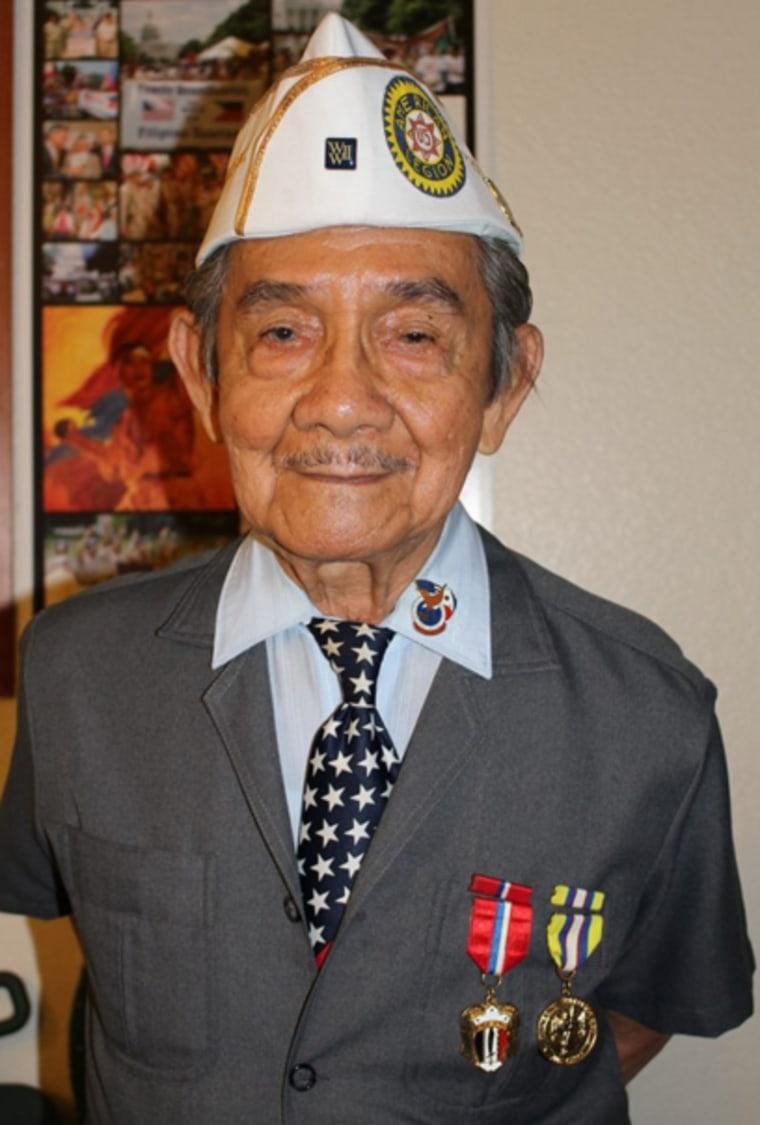 Franco Arcebal, 92, is the spokesperson for the American Coalition of Filipino Veterans.
