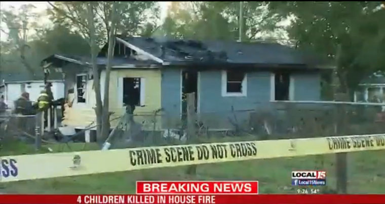 Image:  A house fire in Pensacola has claimed the lives of four children