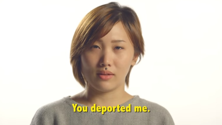 """This still taken from a video in FWD.us' """"11 Million Stories"""" campaign shows recent UCLA graduate Michelle Yoon recounting a hypothetical future with mass deportation."""
