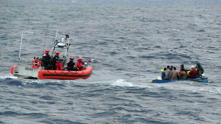 Image: U.S. Coast Guard, Cuban migrants