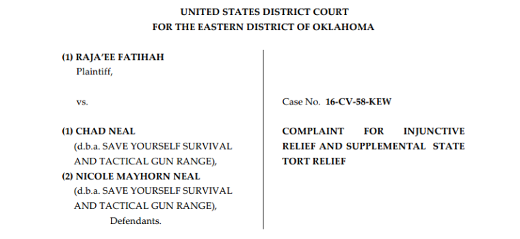 U.S. Army reservist Raja'ee Fatihah is suing a gun range in Oklahoma after it asked him to leave after he said he is Muslim.