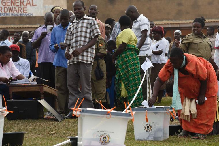 Image: UGANDA-VOTE-POLITICS