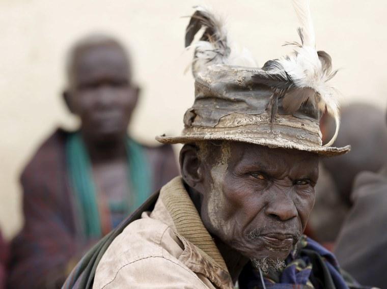 Image: A Karamojong tribesman