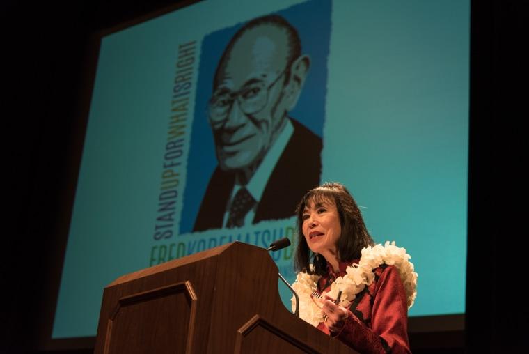 Karen Korematsu, founder and executive director of the Fred T. Korematsu Institute.
