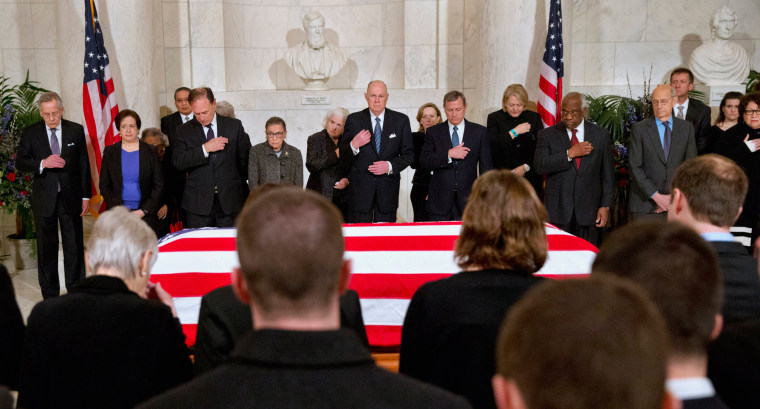 Image: Justices in Scalia Memorial (Cropped)