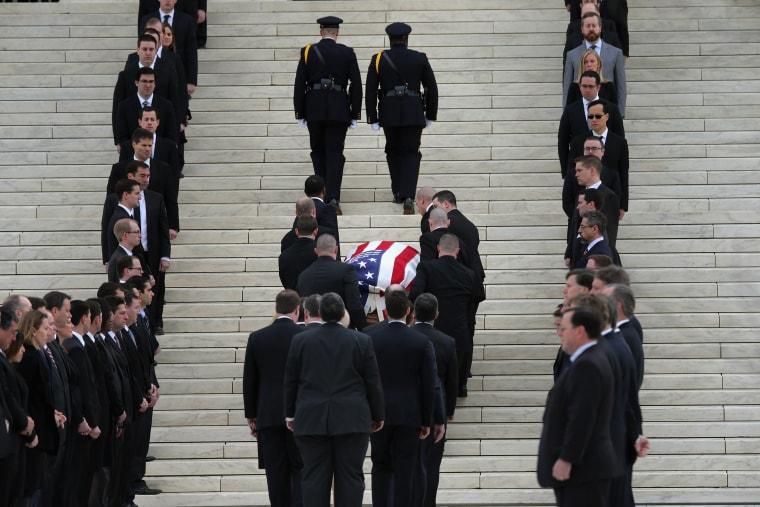 Image: Antonin Scalia's Body Lies In Repose In Great Hall Of U.S. Supreme Court