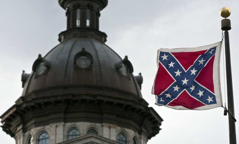 Image: File photo of the Confederate flag flying outside the South Carolina State House in Columbia