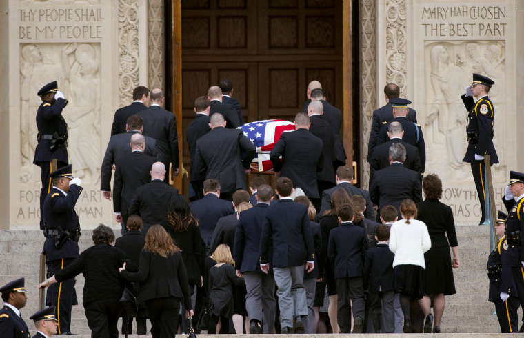 Image: The casket containing the late Supreme Court Associate Justice Antonin Scalia