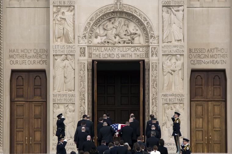 Image: Pallbearers carry the casket of late Supreme Court Justice Antonin Scalia