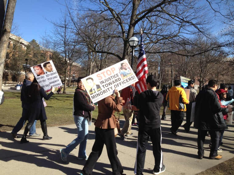 Ann Arbor rally for Peter Liang