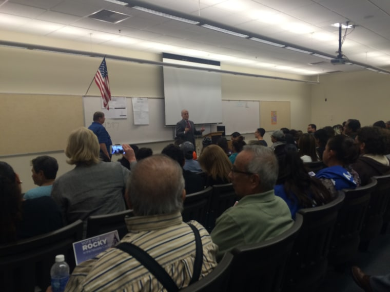 Latino caucus goers at a precinct in Las Vegas, Nevada
