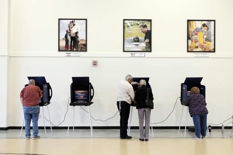 Image: Voters cast their ballots for the Republican nomination for president