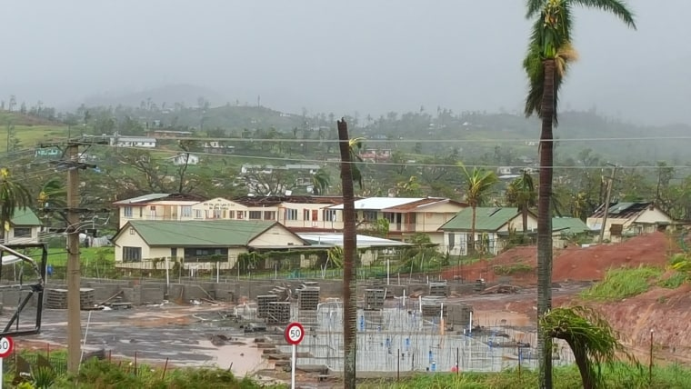 Image: Damage from Cyclone Winston affects the town of Ba on Fiji's Viti Levu Island