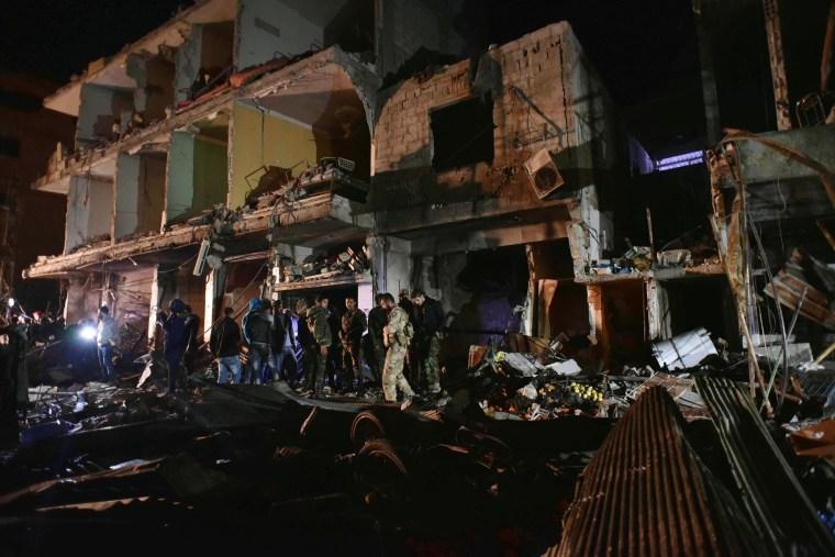 Image: Syria triple blast in Sayyida Zeinab