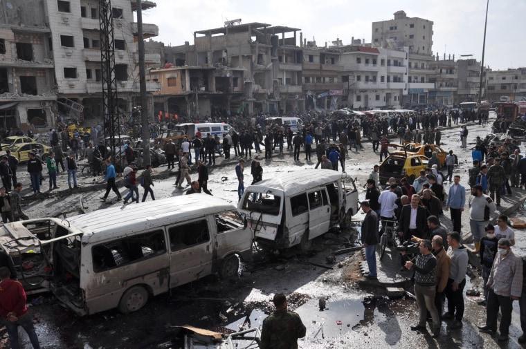 Image: TOPSHOT-SYRIA-CONFLICT-ATTACK