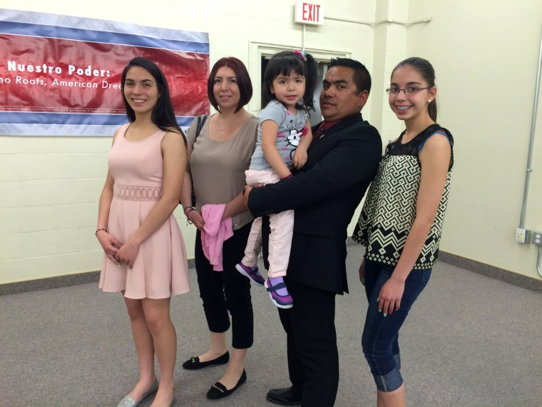 Image: The Osnaya family attended a Republican Hispanic caucus training together in Las Vegas this week.