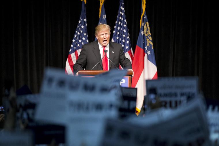 IMAGE: Donald Trump in Atlanta