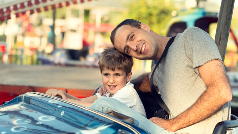family vacations with baby or toddler: amusement parks