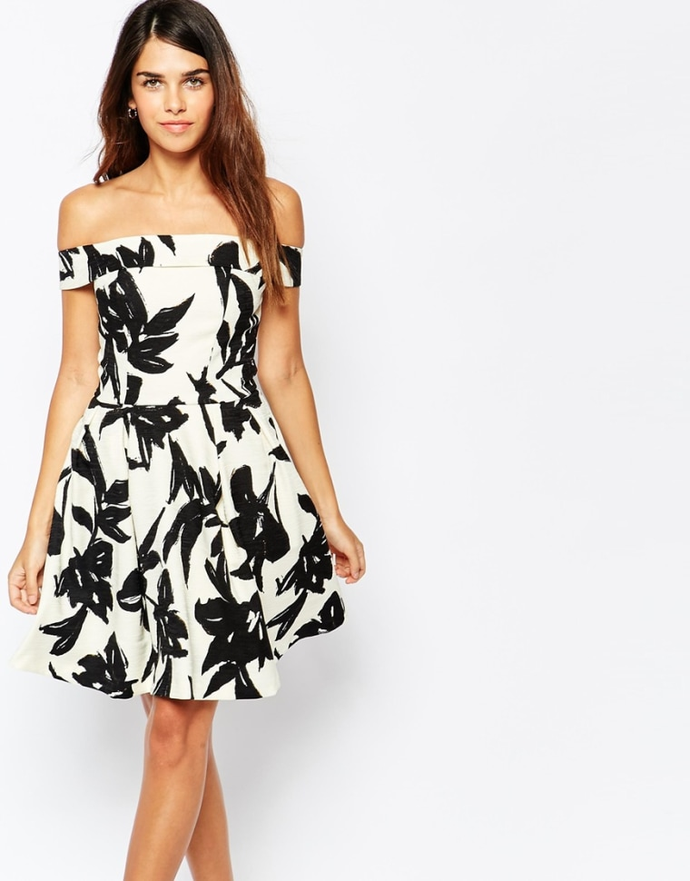 Karla souza actress makes a stylish appearance on today asos black and white flower dress mightylinksfo