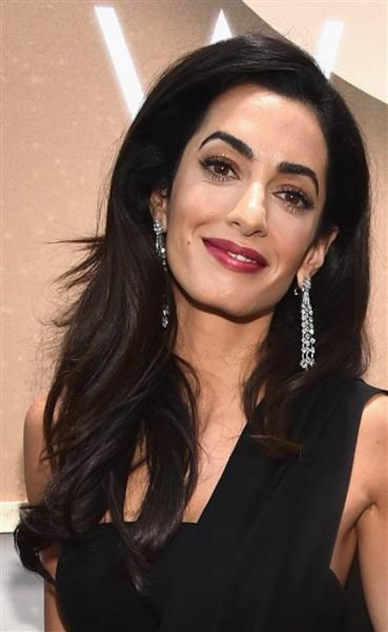 Amal Clooney hairuct