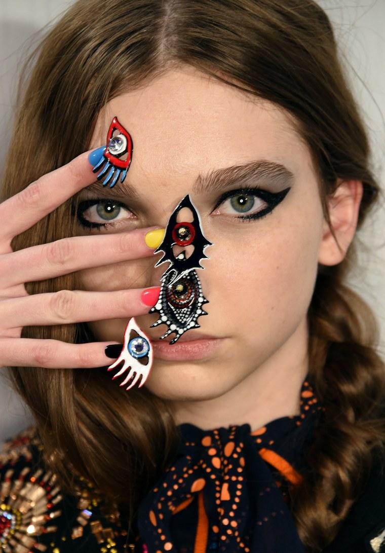 Libertine nails at NYFW