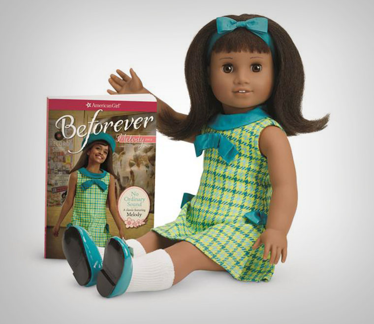 The newest doll in American Girl's BeForever line is Melody, an African American girl with a story set in civil rights era Detroit.