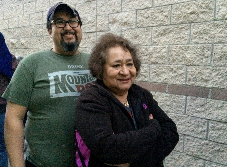 José and Maria García came together to caucus. José moved to Vegas from Colorado after losing work.