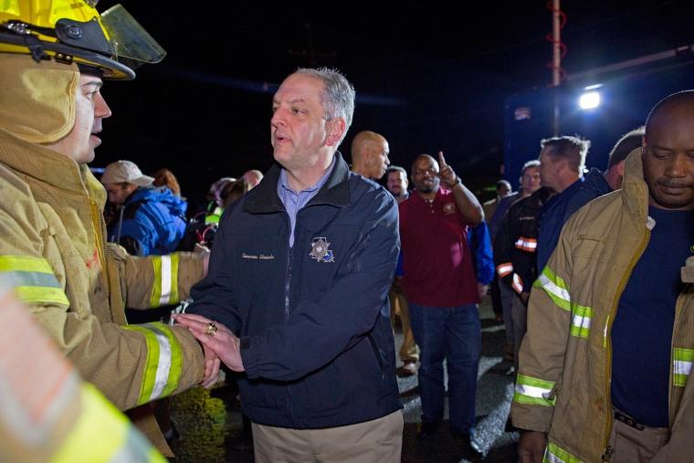 Image: Louisiana Governor John Bel Edwards thanks first responders