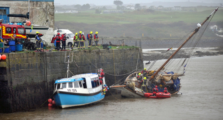 Image: The Nora is seen in Hayle, England, on Jan. 26, 2016