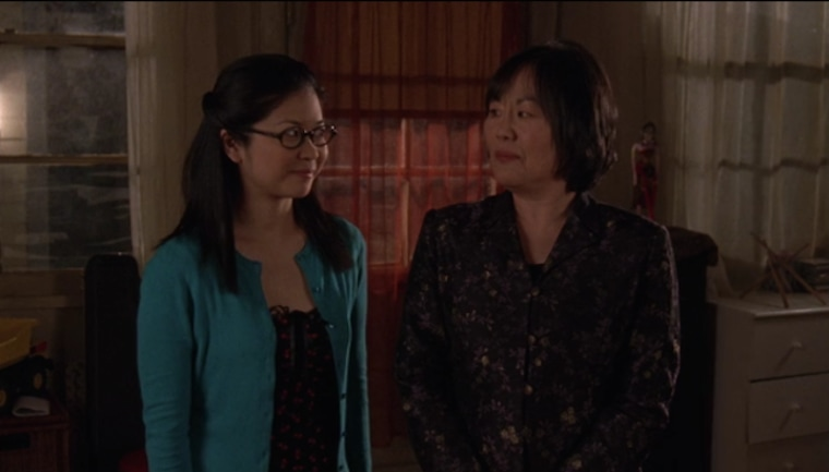 """This screenshot from """"Gilmore Girls"""" shows Emily Kuroda with her TV daughter, portrayed by Keiko Agena."""