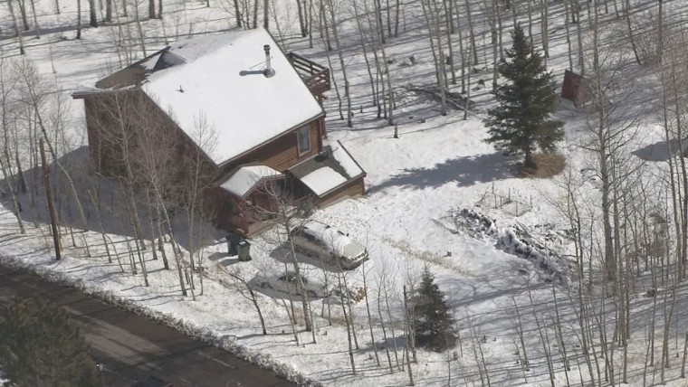 Image: The scene of a shooting in Bailey, Park County, Colorado