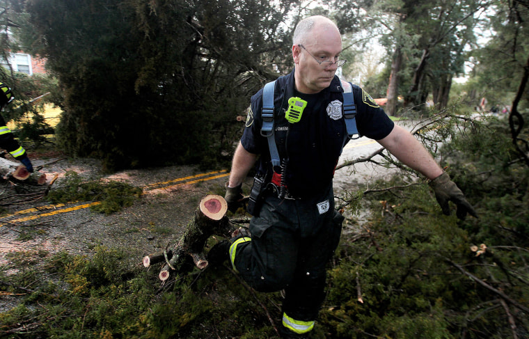 Image: East Storm Coast Storms Fireman