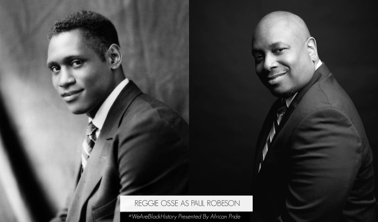 """Loud Speakers Network founder and """"The Combat Jack Show"""" star Reggie Ossé as Paul Robeson"""