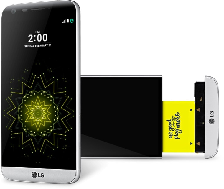 LG's G5 and its detachable base.
