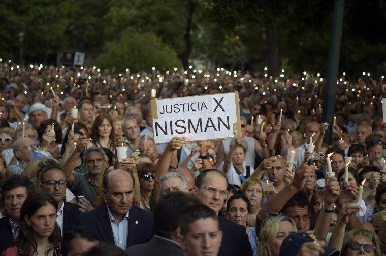 Image: ARGENTINA-JUSTICE-AMIA-NISMAN-VIGIL