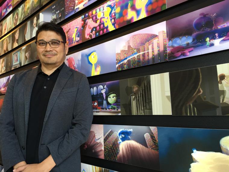 Oscar-nominated artist Ronnie Del Carmen at Pixar headquarters in Emeryville, California.