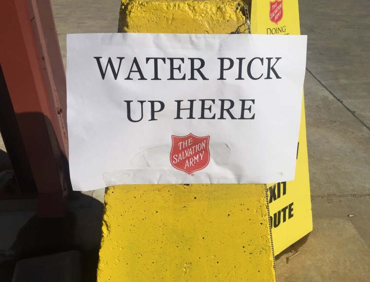 The Salvation Army was handing out free water in Jackson, Mississippi, where elevated lead levels have been detected.