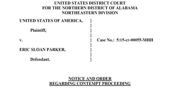 An excerpt from court documents dated Feb. 24 that charge Madison, Alabama, Police Chief Larry Muncey and Capt. Terrell Cook with criminal contempt.