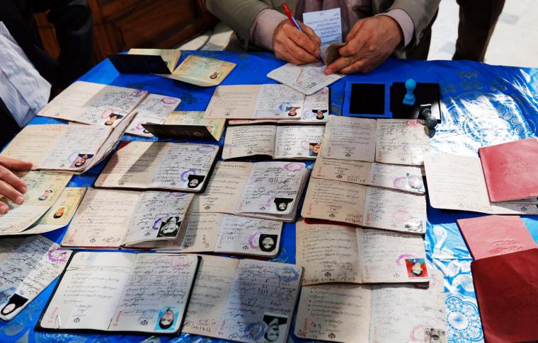 Image: Iran Elections IDs