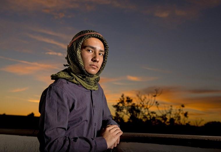 Image: Jon Kari, 18, poses for a portrait in Dana Point, Calif.