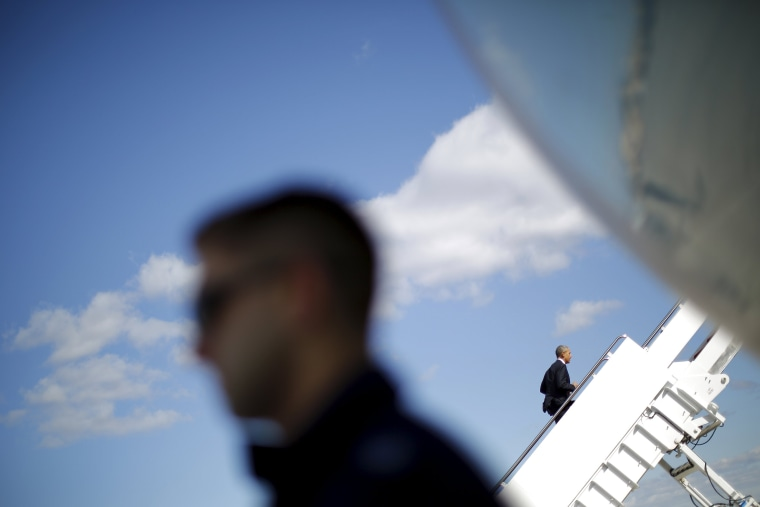 Image: U.S. President Barack Obama boards the Air Force One for Florida at Joint Base Andrews in Maryland