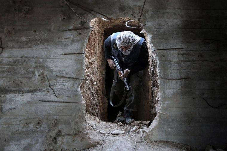 Image: TOPSHOT-SYRIA-CONFLICT-REBELS