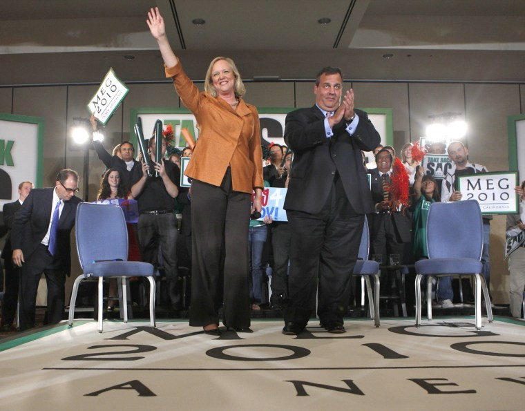 Meg Whitman, Chris Christie