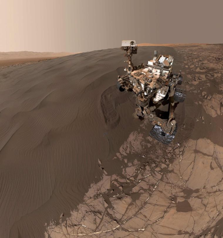 Image: SPACE-MARS-ROVER-SELFIE